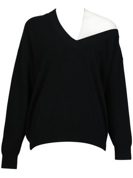 Alexanderwang - Off-shoulder Sweater With Mesh Inlay Black - Women