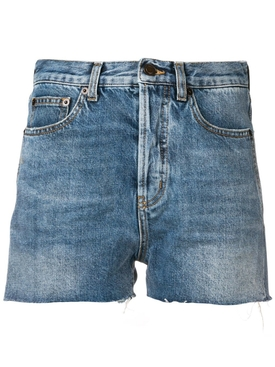 distressed edge shorts