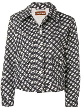 Alexachung - Checked Fitted Jacket Black & White - Women