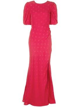 Saloni - Polka Dot Evening Dress - Women