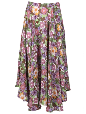 Lhd - French Riviera Skirt, Floral Purple - Women
