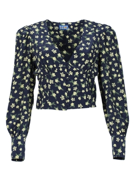 Roadhouse Blouse, Ditsy Floral Black
