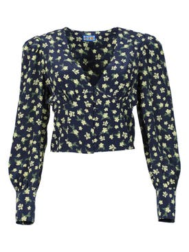 Lhd - Roadhouse Blouse, Ditsy Floral Black - Women