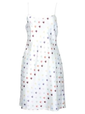 Wynwood Slip Dress, Weed Print