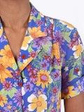 Lhd - Clemenceau Dress, Floral Blue - Women