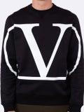 Valentino - V Logo Sweatshirt Black - Men