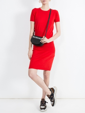 China cashmere knit dress RED