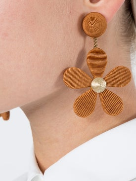 Rebecca De Ravenel - Daisy Cord Slip Earrings - Earrings