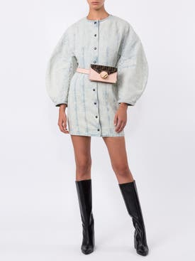 Givenchy - Puffed Sleeves Denim Dress - Women