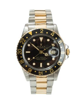 Rolex - Gmt-master Stainless Steel And Black Watch - Men
