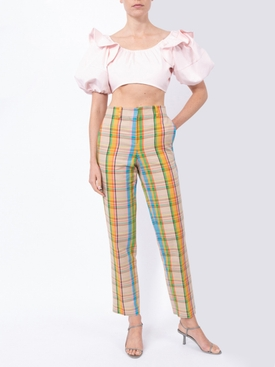 Multicolored check print pants