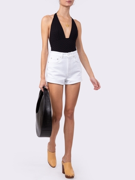 Gabardine one-piece swimsuit