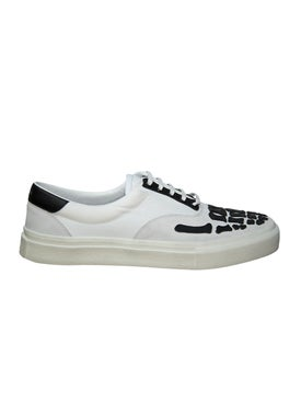 Amiri - Skeleton Toe Lace Up Sneakers White & Black - Men