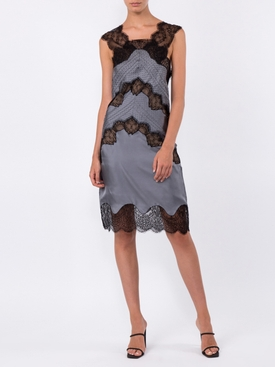 chevron lace shift-dress