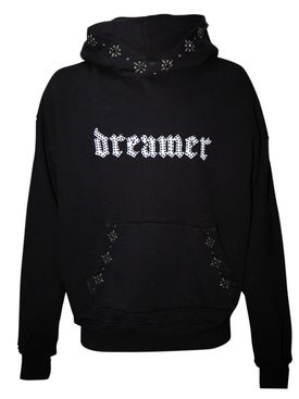 Amiri - Dreamer Distressed Studded Hoodie Black - Men