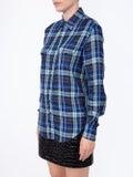 Saint Laurent - Blue Check Print Shirt - Women