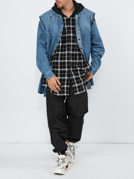 Layered denim shirt Blue