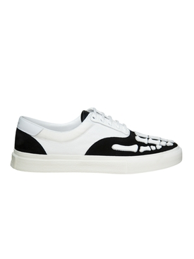 Skeleton Toe Lace Up Sneakers BLACK & WHITE