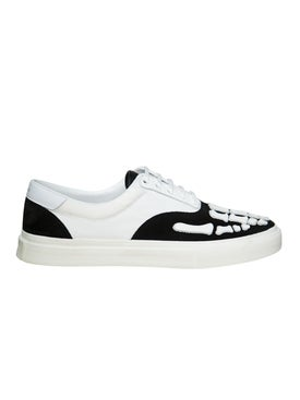 Amiri - Skeleton Toe Lace Up Sneakers Black & White - Men