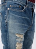 Saint Laurent - Skinny Low Rise Distressed Jeans - Men