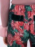 For Restless Sleepers - Green Floral Trousers - Women