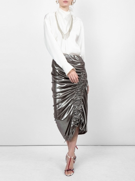 front flap blouse WHITE