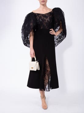 Givenchy - Lace Top With Oversized Puff Sleeves - Women