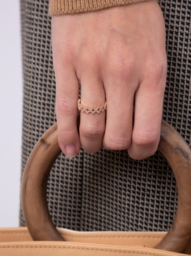 REX BAND PAVE  RING Rose Gold