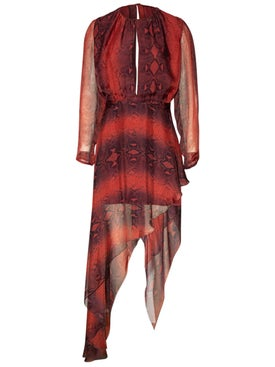 Amiri - Printed Python Asymmetrical Dress - Women