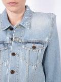 Saint Laurent - Exaggerated Shoulder Denim Jacket - Women