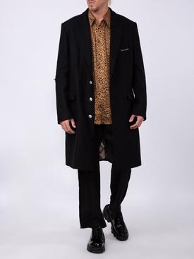 zipped detail coat