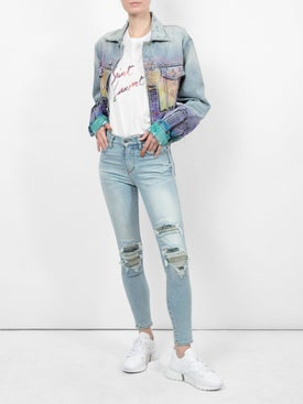 Amiri - High-waisted Distressed Slim-fit Jeans - Women