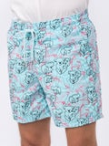 Vilebrequin - Koala Pattern Swim Shorts Blue - Beachwear