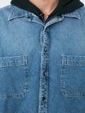 Balenciaga - Layered Denim Shirt Blue - Men