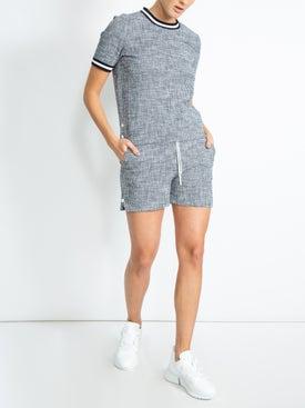 Thom Browne - Textured Tweed Shorts - Women