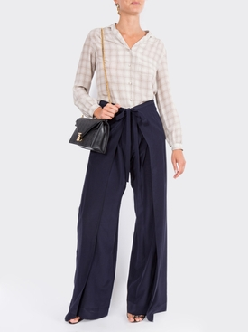 wrap-effect trousers