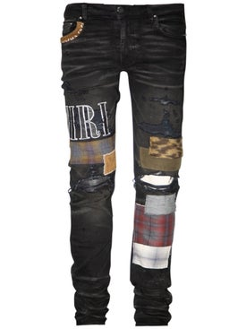 Amiri - Grunge Patch Jeans Rough Black - Men