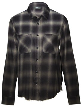 Amiri - Tie Dye Checked Shirt Black Grey - Men