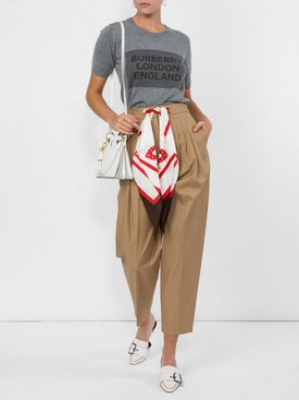 Burberry - Scarf Belt Tapered Trousers - Women