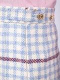 Thom Browne - Check Print Pleated Skirt - Women