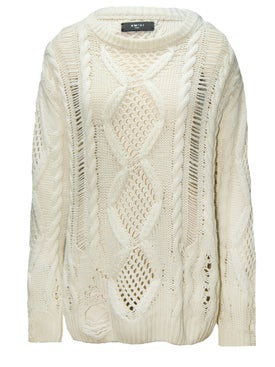 Amiri - Cropped Multipoint Crewneck Sweater - Women