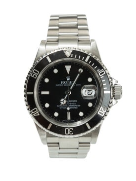 Rolex - Submariner Stainless Steel And Black Dial Watch - Men