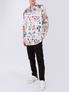 silk charm print t-shirt