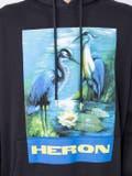 Heron Preston - Black And Blue Graphic Print Logo Hoodie - Men
