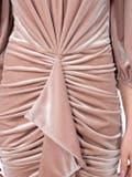 Alexandre Vauthier - Latte Beige Ruched Velvet Dress - Women