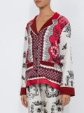 For Restless Sleepers - Printed Satin Shirt - Women