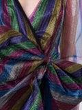 Attico - Bow Detail Multicolored Mini Dress - Women