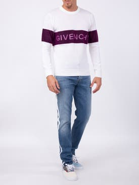 Givenchy - Contrasting Logo Band Sweater White - Men