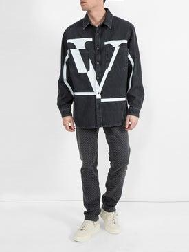 Valentino - Logo Denim Shirt - Men
