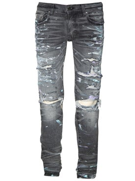 Amiri - Paint-splatter Skinny Jeans Grey - Men
